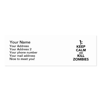 Keep calm and kill zombies business cards