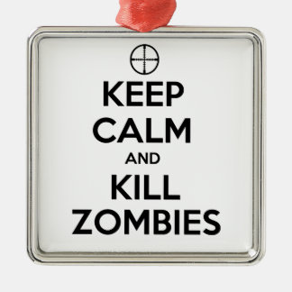 Keep Calm and Kill Zombies Christmas Ornament
