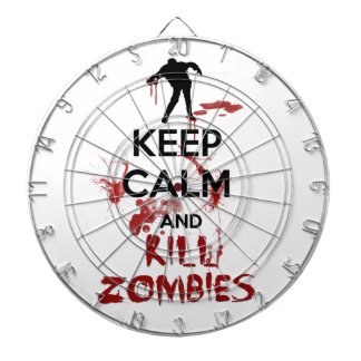 Keep Calm and Kill Zombies Dartboard