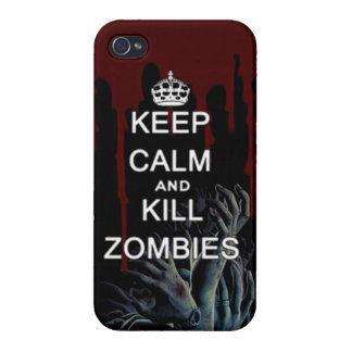 keep calm and kill zombies iPhone 4/4S covers