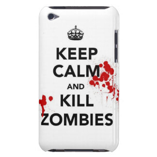 keep calm and kill zombies iPod touch Case-Mate case