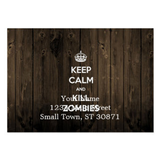 Keep calm and kill zombies pack of chubby business cards