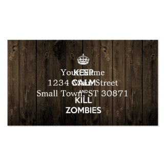 Keep calm and kill zombies pack of standard business cards