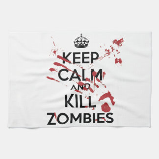 Keep Calm and Kill Zombies Tea Towel
