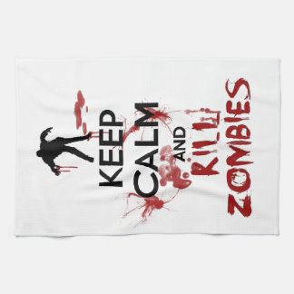 Keep Calm and Kill Zombies Tea Towel