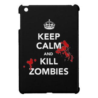 Keep calm and kill zombies walking dead undead fan cover for the iPad mini