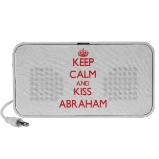 Keep Calm and Kiss Abraham Laptop Speakers
