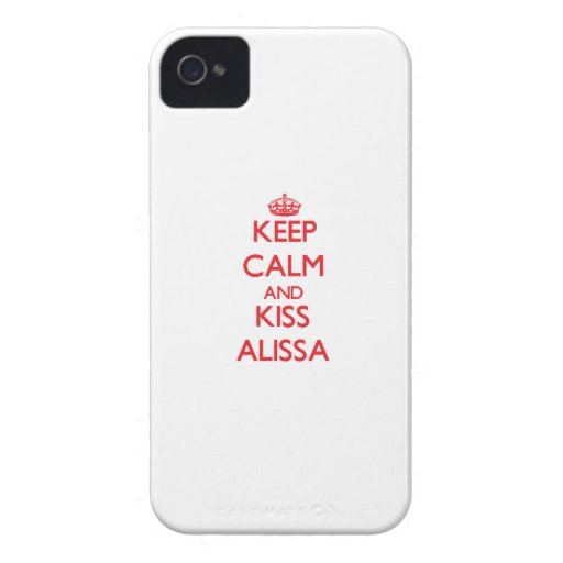 Keep Calm and kiss Alissa Case-Mate iPhone 4 Cases
