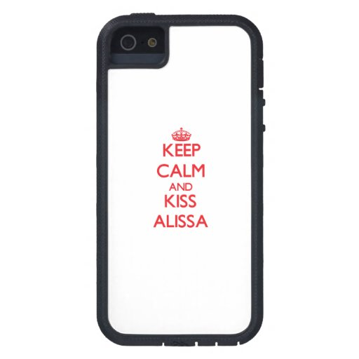 Keep Calm and Kiss Alissa iPhone 5/5S Case