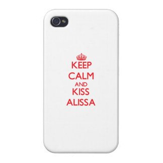 Keep Calm and kiss Alissa iPhone 4 Covers