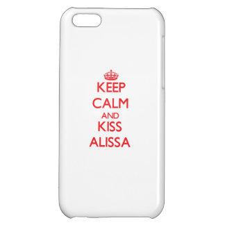 Keep Calm and Kiss Alissa Case For iPhone 5C