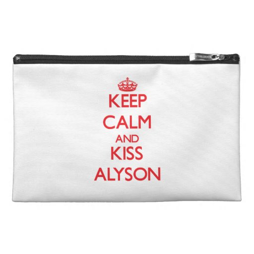 Keep Calm and kiss Alyson Travel Accessory Bags