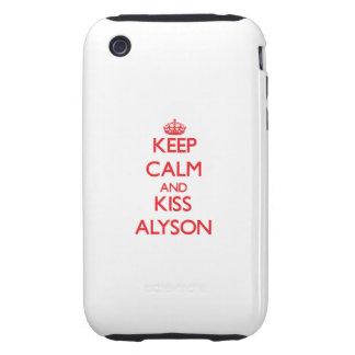 Keep Calm and kiss Alyson iPhone 3 Tough Cover