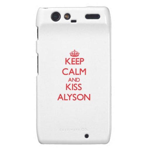 Keep Calm and kiss Alyson Droid RAZR Cover