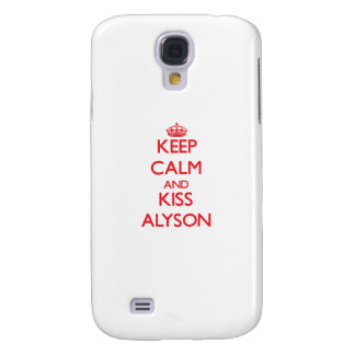 Keep Calm and kiss Alyson Galaxy S4 Covers