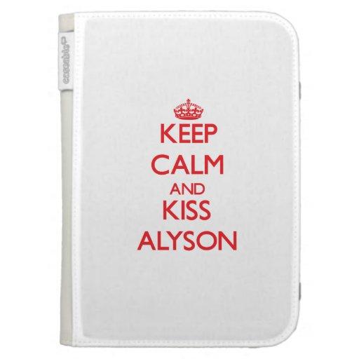 Keep Calm and Kiss Alyson Kindle Keyboard Case