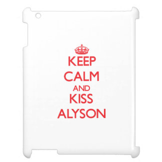 Keep Calm and Kiss Alyson iPad Case