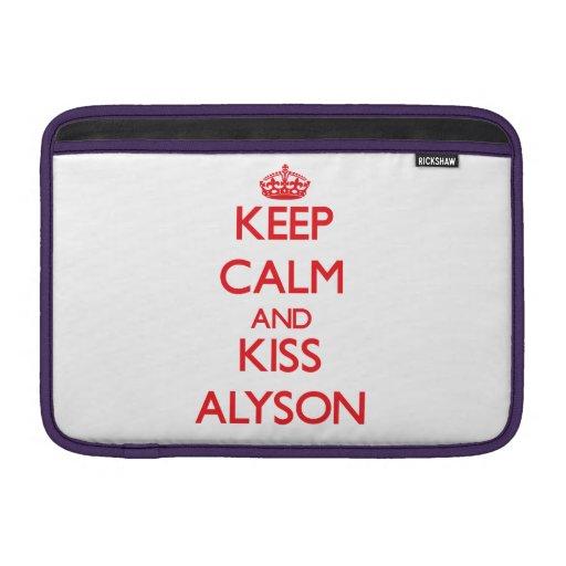 Keep Calm and Kiss Alyson Sleeve For MacBook Air