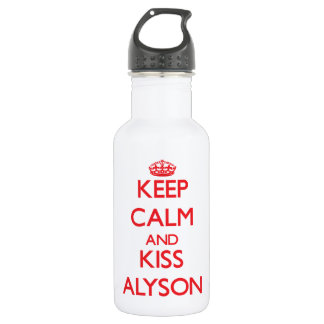Keep Calm and Kiss Alyson 532 Ml Water Bottle