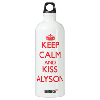 Keep Calm and Kiss Alyson SIGG Traveller 1.0L Water Bottle