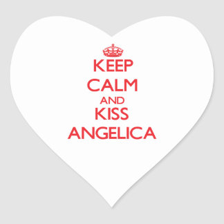 Keep Calm and kiss Angelica Heart Sticker