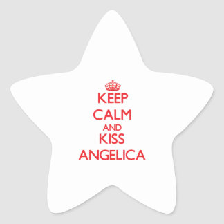 Keep Calm and kiss Angelica Star Sticker