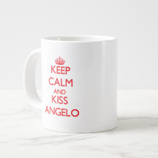 Keep Calm and Kiss Angelo Extra Large Mugs