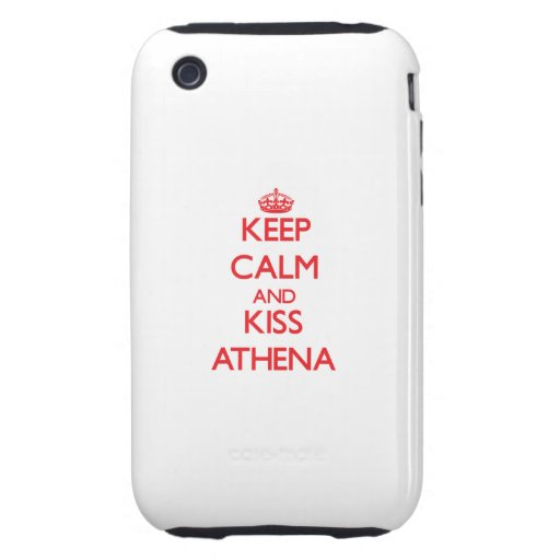 Keep Calm and Kiss Athena iPhone 3 Tough Cover
