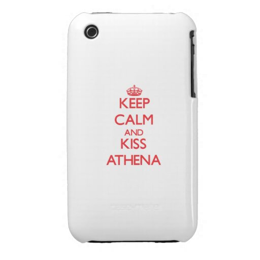Keep Calm and kiss Athena iPhone 3 Cases