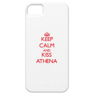Keep Calm and Kiss Athena iPhone 5 Covers
