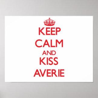 Keep Calm and Kiss Averie Print