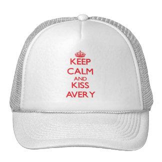 Keep Calm and Kiss Avery Hats