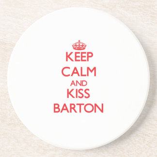 Keep Calm and Kiss Barton Coaster