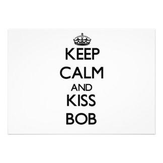 Keep Calm and Kiss Bob Cards