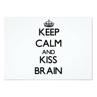 Keep Calm and Kiss Brain Personalized Announcement
