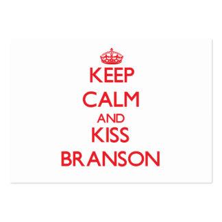 Keep Calm and Kiss Branson Business Card Template