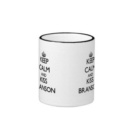 Keep Calm and Kiss Branson Mug