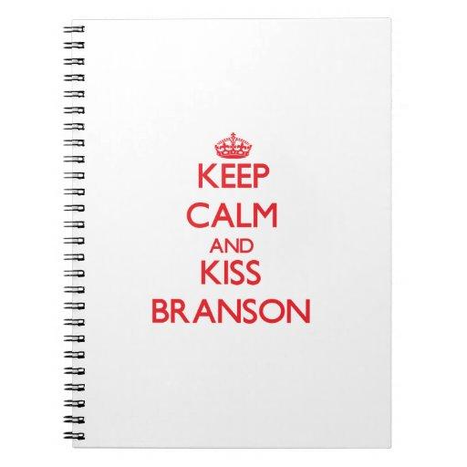 Keep Calm and Kiss Branson Spiral Note Books