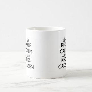 Keep Calm and Kiss Caden Coffee Mug