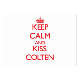 Keep Calm and Kiss Colten Business Card Templates