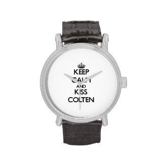 Keep Calm and Kiss Colten Wrist Watch