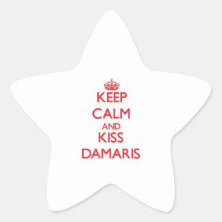 Keep Calm and kiss Damaris Star Sticker