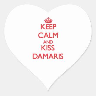 Keep Calm and kiss Damaris Heart Sticker