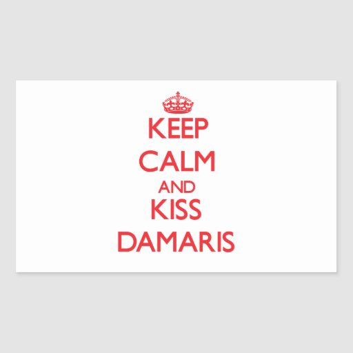 Keep Calm and Kiss Damaris Rectangle Sticker