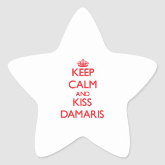 Keep Calm and kiss Damaris Stickers