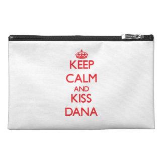 Keep Calm and kiss Dana Travel Accessories Bags
