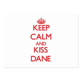 Keep Calm and Kiss Dane Business Card Templates