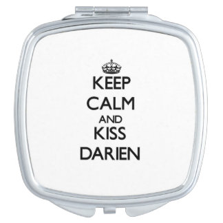 Keep Calm and Kiss Darien Makeup Mirrors