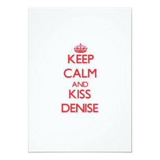 Keep Calm and Kiss Denise 13 Cm X 18 Cm Invitation Card