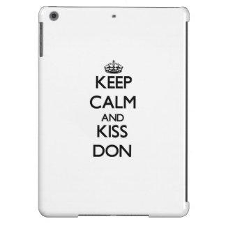 Keep Calm and Kiss Don iPad Air Case
